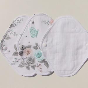 Tisztasági betét-  rózsa mintás ( 3 db/ cs )/ mosható textil betét (ChristieHomemade) - Meska.hu