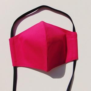 Pink szájmaszk (16 cm magas) / textil szájmaszk, többször használható szájmaszk, Női, Maszk, Arcmaszk, Varrás, Pink textil szájmaszk.\nTöbbször használatos, környezetbarát.\nA külső anyaga  pink, belső anyaga fehé..., Meska