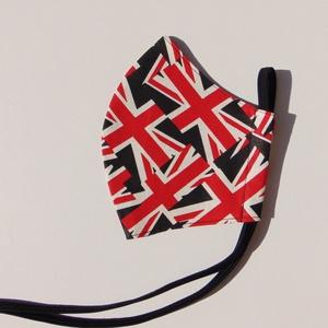 Zászló mintás szájmaszk (16 cm magas) / textil szájmaszk, többször használható szájmaszk, Maszk, Arcmaszk, Férfi & Uniszex, Varrás, Zászló mintás, textil szájmaszk.\nTöbbször használatos, környezetbarát.\nA külső anyaga mintás pamut v..., Meska
