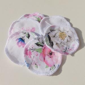 Arctisztító korongok ( 6 db/ cs ) / textil sminktörlő korong.  Többször használható arctisztító pamacs, Szépségápolás, Arcápolás, Arctisztító korong, Varrás, -Többször felhasználható, egyedi, puha, textil arctisztító korongok.\n-cseresznyevirág mintás\n-moshat..., Meska