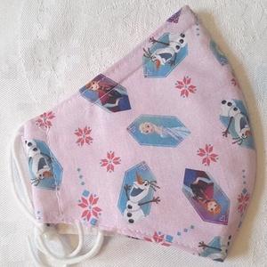 Gyerek szájmaszk dróttal 3 rétegű Frozen mintás textilből, Táska, Divat & Szépség, Szépség(ápolás), Maszk, szájmaszk, Egészségmegőrzés, NoWaste, Varrás, 3 rétegű (kérésre 2 rétegű változatban küldöm), rózsaszínű alapon Jégvarázs mintás 100 % designer pa..., Meska