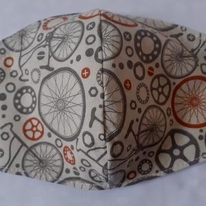 Szájmaszk dróttal 3 rétegű textilből - Meska.hu