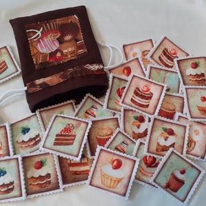 Filc memóriajáték, Játék & Gyerek, Készségfejlesztő & Logikai játék, Varrás, Memóriajáték filc alappal. \nA filc alapú desszertmintás memóriajáték 30 darabból, azaz 15 párból áll..., Meska