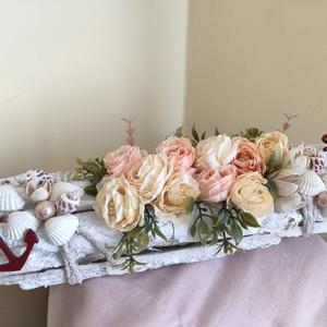 Asztaldísz, Asztaldísz, Dekoráció, Otthon & Lakás, Mindenmás, Romantikus asztaldísz vár saját részre vagy ajándéknak.\nA dísz 30 cm hosszú.\n, Meska