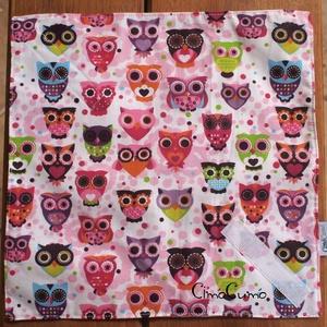 Bagolysereg - textil-PUL uzsonnás szalvéta , Otthon & lakás, NoWaste, Textilek, Varrás, Bagolymintás pamutvászonból és vízhatlan PUL textilből készült ez a dekoratív szalvéta - nemcsak gye..., Meska