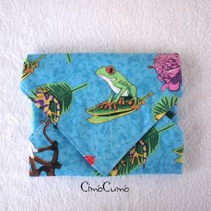 Amazónia - textil-PUL uzsonnás szalvéta , Otthon & lakás, NoWaste, Textilek, Varrás, Designer pamutvászonból és vízhatlan PUL textilből készült ez a dekoratív szalvéta - nemcsak gyereke..., Meska