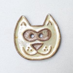 Macska gombok, Táskadísz, Kulcstartó & Táskadísz, Táska & Tok, Kerámia, Különböző macskás gombok készültek. \nValamelyikből több van.\n\nVarrhatod őket párnára,ruhára,táskára,..., Meska