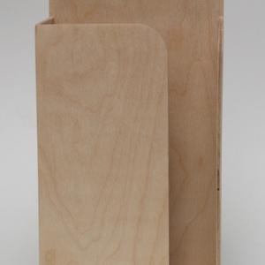 natúr zsebkendőtartó (nagyobb méret, ZEWA-hoz) (FromWood) - Meska.hu