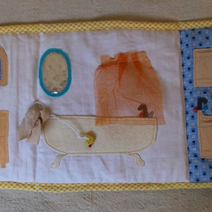 Textil babaház tengerparttal, quiet book (cinegemadar) - Meska.hu