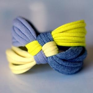 DIAGONAL - textil karkötő, sárga/szürke (cirrhopp) - Meska.hu