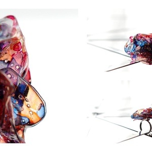 Plabodot RINGRING gyűrű - kék/narancs (cirrhopp) - Meska.hu