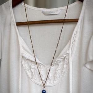 Boho - lapis lazuli bojtos nyaklánc  (citycharms) - Meska.hu