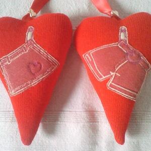 Kötődő szívpár: 1 szoknya 1 nadrág, Esküvő, Emlék & Ajándék, Nászajándék, Újrahasznosított alapanyagból készült termékek, Varrás, Meska