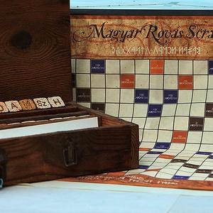 Rovás Scrabble Betűjáték Camping Változat :-), Otthon & lakás, Gyerek & játék, Játék, Készségfejlesztő játék, Kerti játék, Kerámia, Általános leírás\n\nA mozaik kövek egyik oldalán rovás jel, a másikon annak latin megfelelője találhat..., Meska