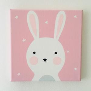 Baby nyuszi gyerekszoba falikép, Otthon & Lakás, Kép & Falikép, Dekoráció, Baby nyuszi gyerekszoba faliképemet feszített vászonkeretre festettem vízbázisú akrilfestékkel.  Mér..., Meska
