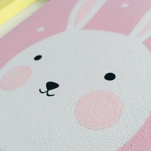 Baby nyuszi gyerekszoba falikép (colorhome) - Meska.hu