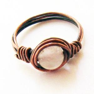 Rózsakvarc gyűrű, Ékszer, Gyűrű, Ékszerkészítés, Fémmegmunkálás, Egyszerűen nem lehet ráunni erre a gyönyörű ásványra, ami minden formában a tökéletes szépségét és a..., Meska
