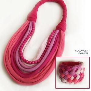 Pink-rózsaszín textilszett - Meska.hu