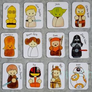 Star Wars hűtőmágnes készlet 18 db-os!, Hűtőmágnes, Konyhafelszerelés, Otthon & Lakás, Fotó, grafika, rajz, illusztráció, Mindenmás, További termékek ezzel a grafikával:\n\n**18 db-os hűtőmágnes készlet\n*galaxis háttér:\nhttps://www.mes..., Meska