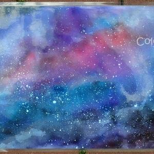 Nagy tányéralátét - Galaxis (A3), Tányér- és poháralátét, Konyhafelszerelés, Otthon & Lakás, Fotó, grafika, rajz, illusztráció, Mindenmás, Ezen az alátéten a kifürkészhetetlen világűr egy képzeletbeli részletét találjátok.\nSemmi sallang, c..., Meska
