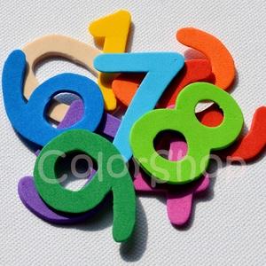 Játék a számokkal és színekkel - dekorgumi formák - Meska.hu