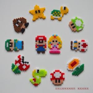 Super Mario mini hűtőmágnes készlet (12 db), Férfiaknak, Otthon & lakás, Konyhafelszerelés, Hűtőmágnes, Dekoráció, Mindenmás, Aki játszott gyerekkorában Super Mario-t és/vagy esetleg most (is) szokott vele játszani, az fogja i..., Meska