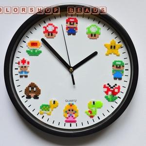 Super Mario falióra (halk, 23 cm), Otthon & Lakás, Dekoráció, Falióra & óra, Mindenmás, Tudom, hogy sokakat zavar az órák kattogása, így most beszereltem az órába egy csendes óraszerkezete..., Meska