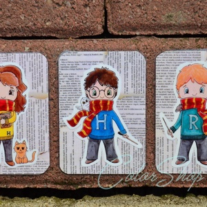 Harry Potter hűtőmágnes szett 3 db, Gyerek & játék, Gyerekszoba, Otthon & lakás, Dekoráció, Konyhafelszerelés, Hűtőmágnes, Fotó, grafika, rajz, illusztráció, Nem árulok el nagy titkot, ha azt mondom, hogy a Harry Potter könyveket és filmeket rengetegen szere..., Meska
