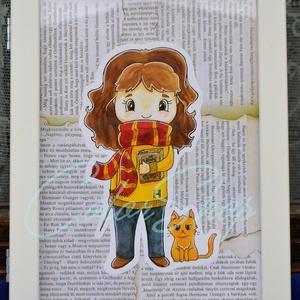 Hermione (Harry Potter) print A4, Grafika & Illusztráció, Művészet, Fotó, grafika, rajz, illusztráció, Nem árulok el nagy titkot, ha azt mondom, hogy a Harry Potter könyveket és filmeket rengetegen szere..., Meska