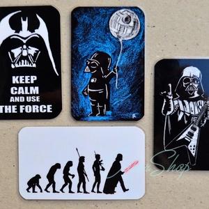 Darth Vader (Star Wars) - 4 db-os hűtőmágnes készlet, Hűtőmágnes, Konyhafelszerelés, Otthon & Lakás, Fotó, grafika, rajz, illusztráció, Mindenmás, Star Wars és Darth Vader rajongóknak...\n\nKomoly és vicces mágnesek egy készletben, hát kell ennél tö..., Meska