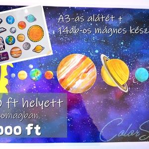 CSOMAGban olcsóbb! - Bolygók, Játék & Gyerek, Fotó, grafika, rajz, illusztráció, Mindenmás, *** 1 db A3-as tányéralátétet\nés\n*** 1 készlet hűtőmágnest, amely 14 db-os.\n\nEgyütt a kettő 10% kedv..., Meska