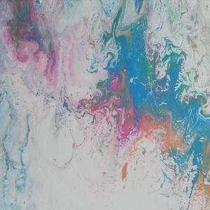 Meditáció II./Akrilfestmény, Akril, Festmény, Művészet, Festészet, 20×30cm-es akrilfestmény, kellemes pasztell színekben, megnyugtató hangulattal.\n, Meska