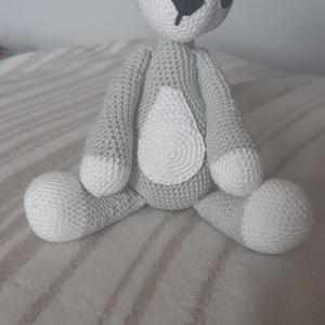 Husky, Játék & Gyerek, Plüssállat & Játékfigura, Kutya, Horgolás, Catania fonalból készült Husky kutyus. 20 cm ülve. A szemek műanyagok. , Meska