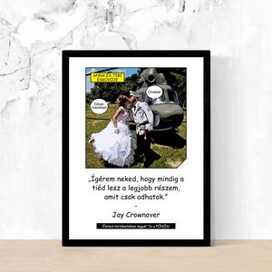 Fotókból képregény stílusú egyedi személyreszabott képek poszterek Rólad-Neked! KARÁCSONYI AJÁNDÉK ÖTLET (10x15 cm), Otthon & Lakás, Dekoráció, Kép & Falikép, Fotó, grafika, rajz, illusztráció, A képek illusztrációk! A Te példányodat, az általad küldött képek, és szövegek alapján fogjuk elkész..., Meska