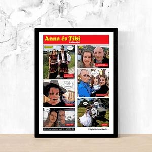 Fotókból képregény stílusú egyedi személyreszabott képek poszterek Rólad-Neked! KARÁCSONYI AJÁNDÉK ÖTLET (21x30 cm), Otthon & Lakás, Dekoráció, Kép & Falikép, Fotó, grafika, rajz, illusztráció, A képek illusztrációk! A Te példányodat, az általad küldött képek, és szövegek alapján fogjuk elkész..., Meska