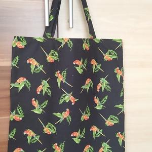 Bevásárlószatyor/Táska, Táska & Tok, Bevásárlás & Shopper táska, Shopper, textiltáska, szatyor, Minőségi pamutvászonból készült bevásárlószatyor táska. Vidám, mintás anyagból egyszínű béléssel (vi..., Meska