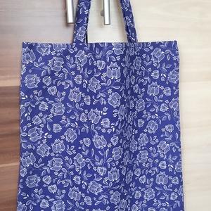 Bevásárlószatyor/Táska, Táska & Tok, Bevásárlás & Shopper táska, Shopper, textiltáska, szatyor, Minőségi pamutvászonból készült bevásárlószatyor táska. Vidám, mintás anyagból egyszínű béléssel (sö..., Meska