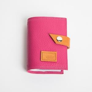 Girly things - bankkártya tartó, Táska, Divat & Szépség, Táska, Pénztárca, tok, tárca, Pénztárca, Bőrművesség, Varrás, Design: \n\nStílusos, csajos bankkártya tartót készítettem vastag marhabőrből. 12 részes műanyag kárty..., Meska