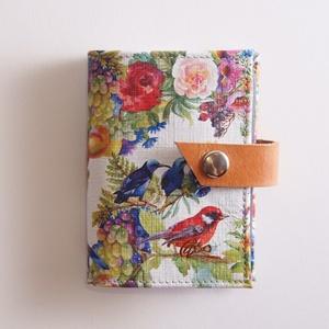 Birdy - bankkártya tartó, Táska, Divat & Szépség, Táska, Pénztárca, tok, tárca, Pénztárca, Erszény, Bőrművesség, Varrás, Design: \n\nStílusos, csajos bankkártya tartót készítettem erős kecskebőrből. 12 részes műanyag kártya..., Meska