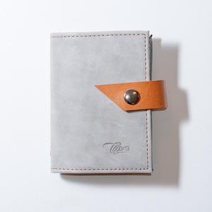 Grey stone - bankkártya tartó, Táska, Divat & Szépség, Táska, Pénztárca, tok, tárca, Pénztárca, Erszény, Bőrművesség, Varrás, Design: \n\nStílusos, unisex bankkártya tartót készítettem puha tapintású marhabőrből.12 részes műanya..., Meska