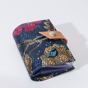 Vintage flowery -  bankkártya tartó, Táska & Tok, Pénztárca & Más tok, Kártyatartó & Irattartó, Bőrművesség, Design: \n\nStílusos, nőies bankkártya tartót varrtam erős, mégis nagyon finom tapintású kecskebőrből...., Meska
