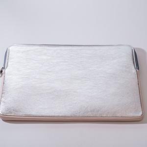 """Silver shine - laptop tartó 15\"""", Ebook & Tablet tok, Laptop & Tablettartó, Táska & Tok, Bőrművesség, Varrás, Design: \n\n15\""""-os laptop tartóm védi és díszíti is a géped! Az előrész és a hátrész külöböző, de nagy..., Meska"""