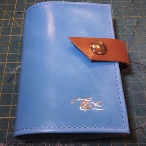 Brighty - bankkártya tartó, Táska & Tok, Pénztárca & Más tok, Kártyatartó & Irattartó, Design:   Stílusos és csajos bankkártya tartót készítettem puha tapintású marhabőrből.12 részes műan..., Meska