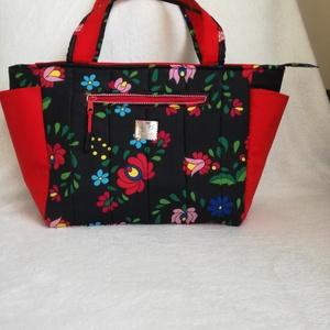 Női táska matyós, Táska & Tok, Kézitáska & válltáska, Varrás, Extravagáns női táska. Funkció mellett fontos a divatos megjelenés! Speciális, rugalmas táskamerevít..., Meska
