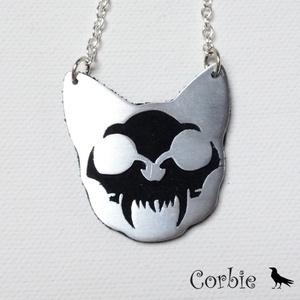 Macska koponyás nyaklánc (Corbie) - Meska.hu