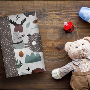 Egészségügyi kiskönyv borító, Játék & Gyerek, Babalátogató ajándékcsomag, Varrás, Meska