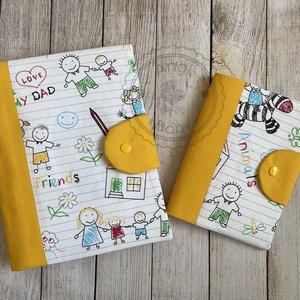 Pelenkatartó táska + egészségügyi kiskönyv borító, Játék & Gyerek, Babalátogató ajándékcsomag, Varrás, Meska