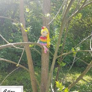 Rainbow doll, Játék & Gyerek, Baba & babaház, Baba, Horgolás, 25 cm magas, kézzel készült szivárványos baba. , Meska