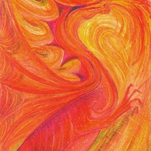 Tűz sárkány, Művészet, Festmény, Pasztell, Fotó, grafika, rajz, illusztráció, Festészet, Olajpasztell garfikámról készült giclée művészi nyomat, az eredeti pontos, és időtállóbb mása :)..., Meska