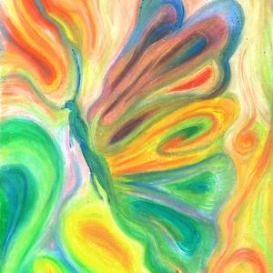 Pille, Művészet, Festmény, Pasztell, Fotó, grafika, rajz, illusztráció, Festészet, Olajpasztell grafikámról készült, giclée művészi nyomat, az eredeti pontos reprodukciója - a színek ..., Meska